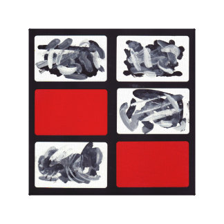 Canvas Print Red Black Abstract