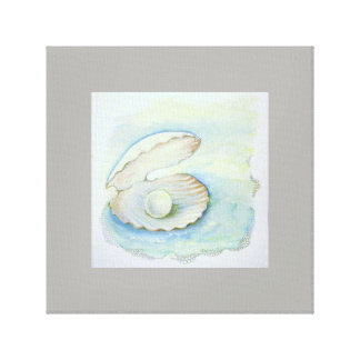 "canvas print ""Seashell Pearl"""