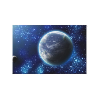 Canvas print space earth