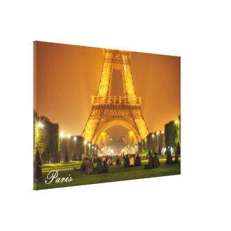 Canvas Print | The Eiffel Tower at Night | Paris