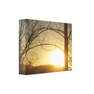 "Canvas Print ""Winter sunset"""