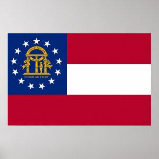 Canvas Print with Flag of Georgia, U.S.A.