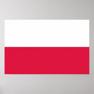 Canvas Print with Flag of Poland