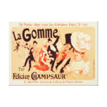 Canvas Reproduction Vintage French poster Canvas Print