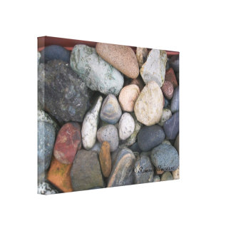 Canvas - Rocks # 2. © Roseanne Pears 2012. Stretched Canvas Prints
