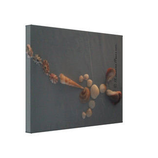Canvas-SeaShellManBlowingHorn© Roseanne Pears 2012 Stretched Canvas Print