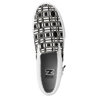 Canvas Shoe Changeable Slip On Black White Plaid