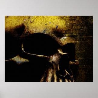 Canvas Skull Poster