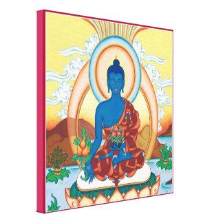 CANVAS SQUARE - Medicine Buddha - Healing Master Canvas Print