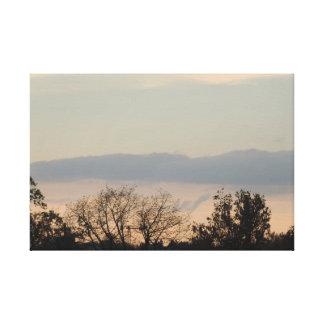 Canvas Sunset colours Stretched Canvas Print