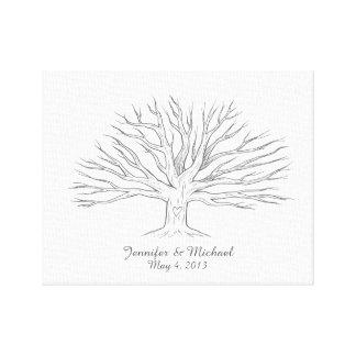 Canvas Thumbprint Tree Guestbook Canvas Print