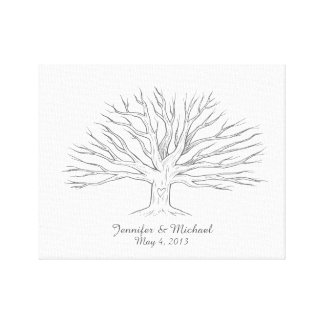 Canvas Thumbprint Tree Guestbook Gallery Wrap Canvas