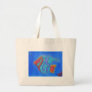Canvas Tote-Vibrant Tropical Fish Bags