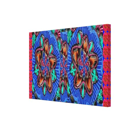 Canvas: Vintage Engraved TEMPLE WALL ART Stretched Canvas Prints