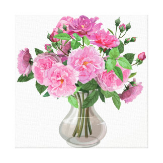 Canvas Wall Art-Pink Roses