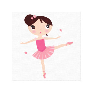 Canvas with little balerina canvas print