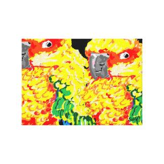 Canvas Wrap/ Parrots Flock together