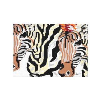 Canvas Wrap /Zebras