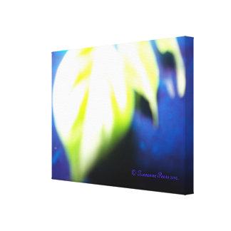 CanvasArt-LeafOnBlue.© Roseanne Pears 2012. Gallery Wrap Canvas
