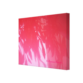 CanvasArt-PinkLeafShadows.© Roseanne Pears 2012. Gallery Wrapped Canvas