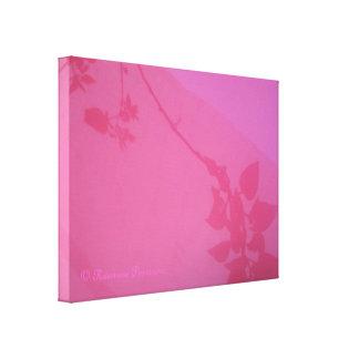 CanvasArt-PinkVineShadow.© Roseanne Pears 2012. Gallery Wrap Canvas