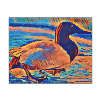 Canvasback Duck Art Painting Canvas Print