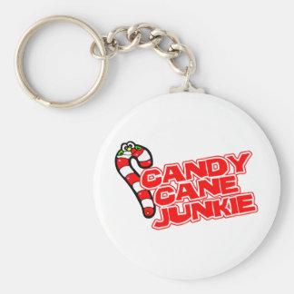 Cany Cane Junkie Keychain