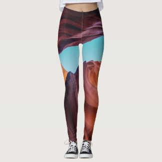 Canyon and Sky Landscape on Leggins Leggings