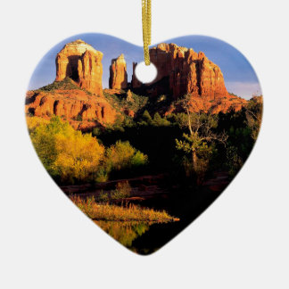 Canyon Cathedral Rock Sedona Ceramic Heart Decoration