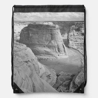 Canyon de Chelly Arizona by Ansel Adams Drawstring Backpack