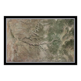 Canyon de Chelly National Monument Satellite Map Poster