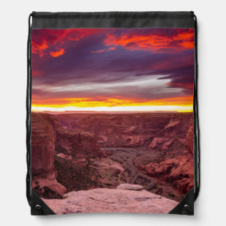 Canyon de Chelly, sunset, Arizona Drawstring Bag
