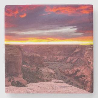 Canyon de Chelly, sunset, Arizona Stone Coaster