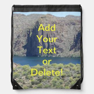 Canyon Lake Close Drawstring Backpack