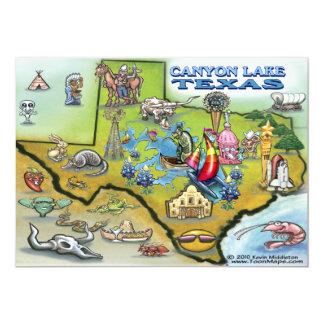 Canyon Lake TEXAS Map Card 13 Cm X 18 Cm Invitation Card