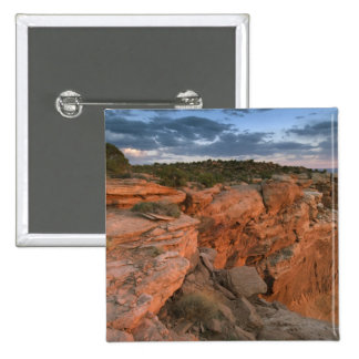 Canyon overlook in the Island in the sky 15 Cm Square Badge
