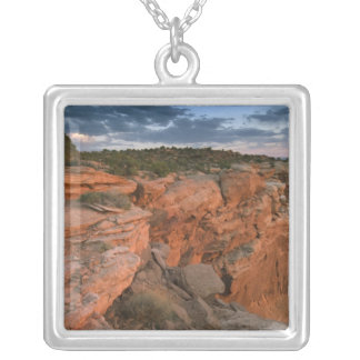 Canyon overlook in the Island in the sky Silver Plated Necklace