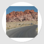Canyon Round Stickers