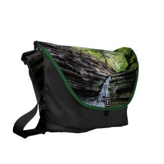 Canyon waterfall messenger bags
