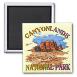 Canyonlands National Park Square Magnet