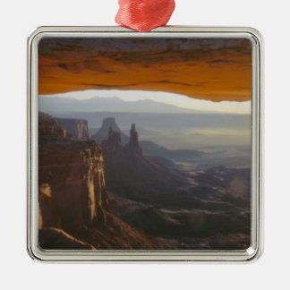 CANYONLANDS NATIONAL PARK, UTAH. USA. View Silver-Colored Square Decoration