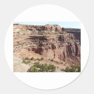 Canyonlands Utah Classic Round Sticker