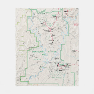 Canyonlands (Utah) map blanket