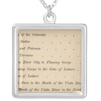 Canyons of the Colorado Silver Plated Necklace
