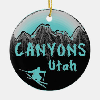 Canyons Utah skier Christmas Ornament