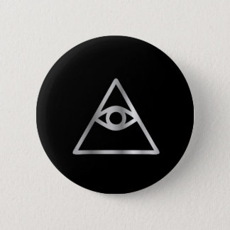 Cao dai Eye of Providence- Religious icon 6 Cm Round Badge