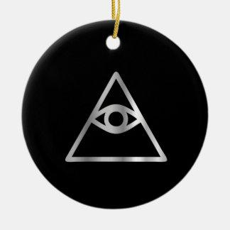 Cao dai Eye of Providence- Religious icon Round Ceramic Decoration
