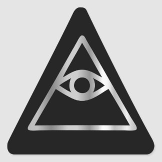 Cao dai Eye of Providence- Religious icon Triangle Sticker