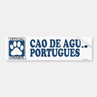 Cao De Agua Portugues Blue Car Bumper Sticker