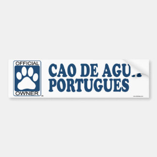 Cao De Agua Portugues Blue Bumper Sticker